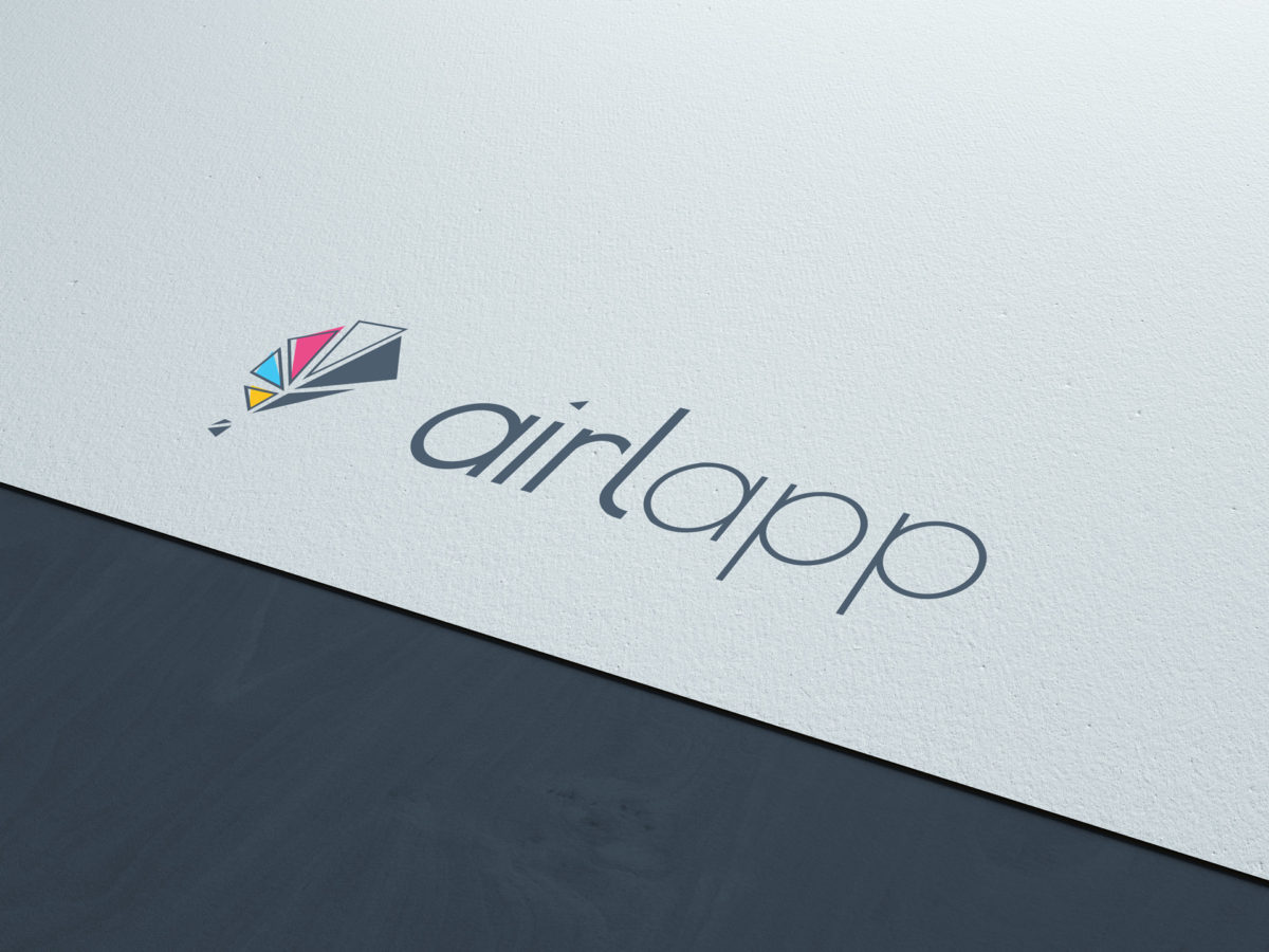 Airlapp logo Branding complete Management Adviroo