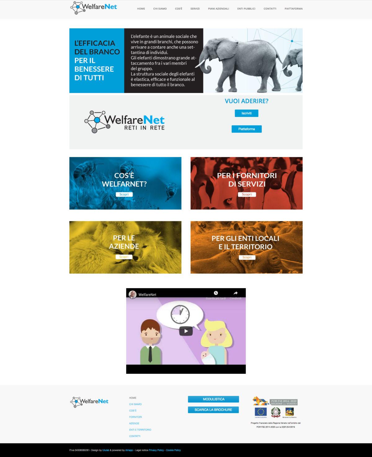 Home page website WelfareNet