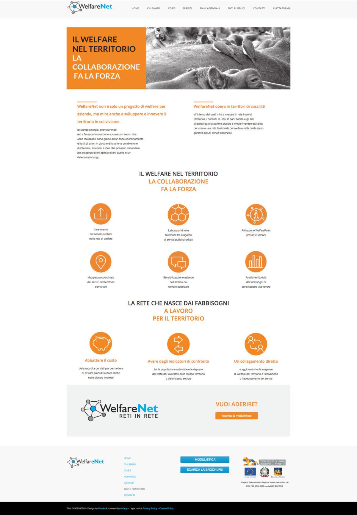 Page website WelfareNet