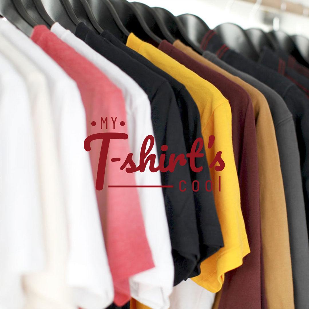 My T-shirt's Cool branding and web design by Adviroo