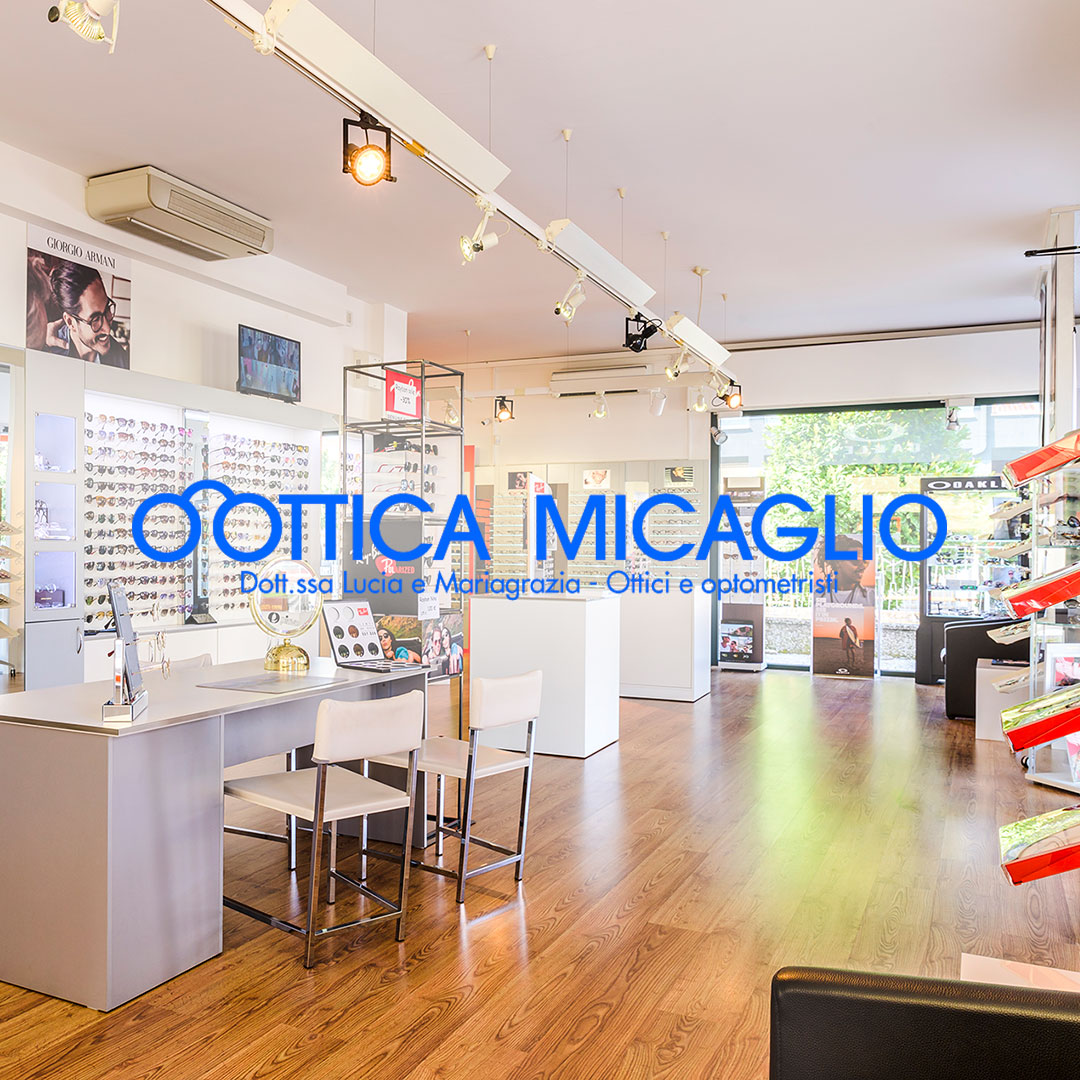 Ottica Micaglio social and web design by Adviroo