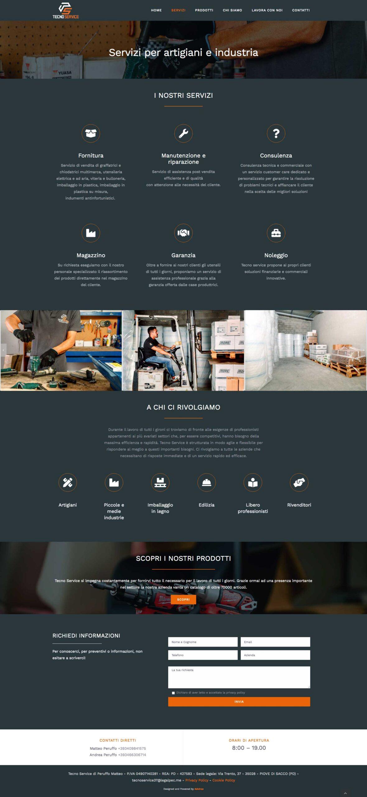 Servizi - Website Tecno Service - web design by Adviroo